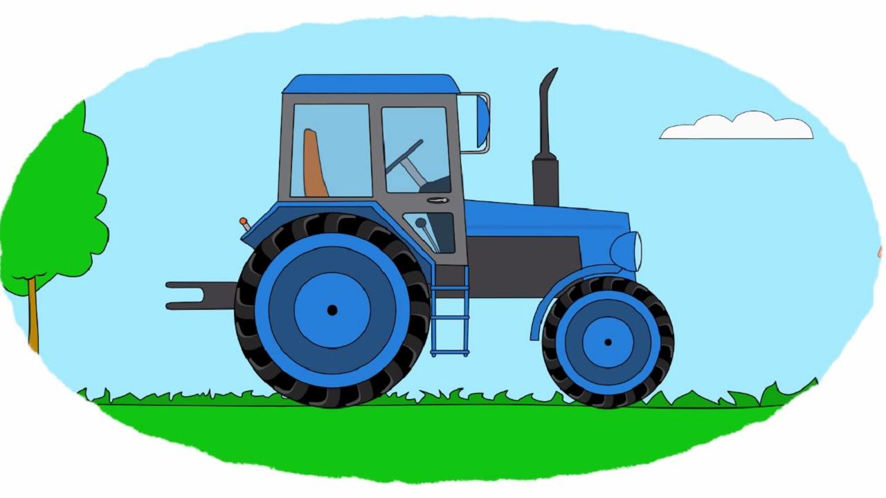 Развивающие раскраски про трактор