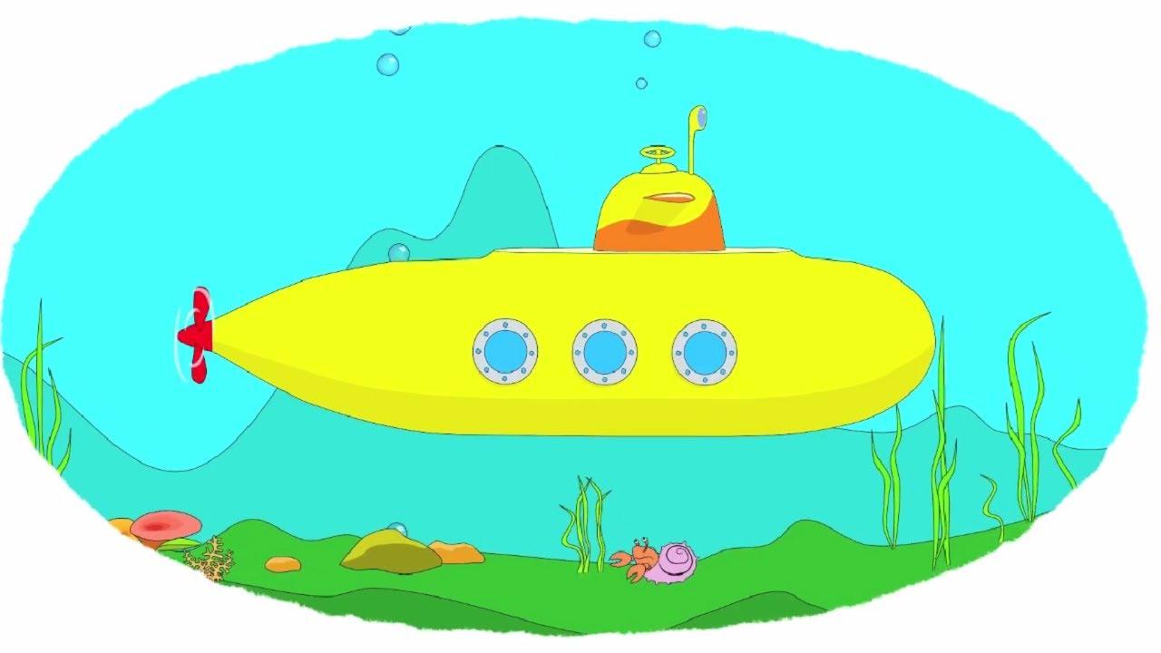 как рисовать подводную лодку с детьми
